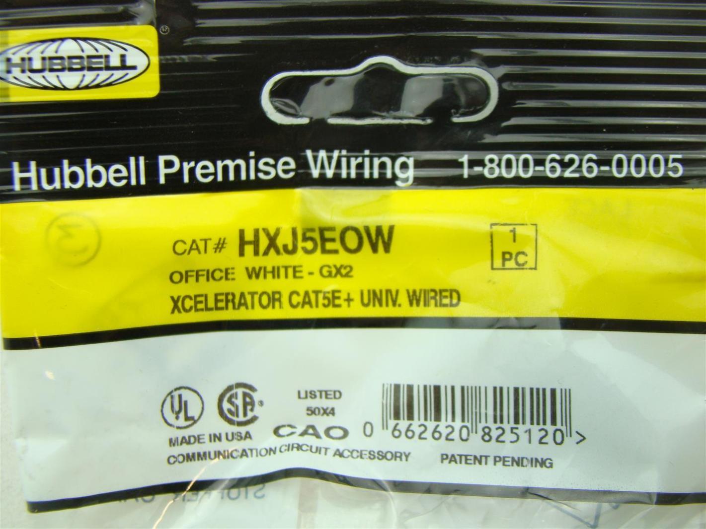 9 pcs hubbell premise wiring hxj5eow joseph fazzio incorporated rh fazziosurplus com hubbell premise wiring ftu1sp hubbell premise wiring devices