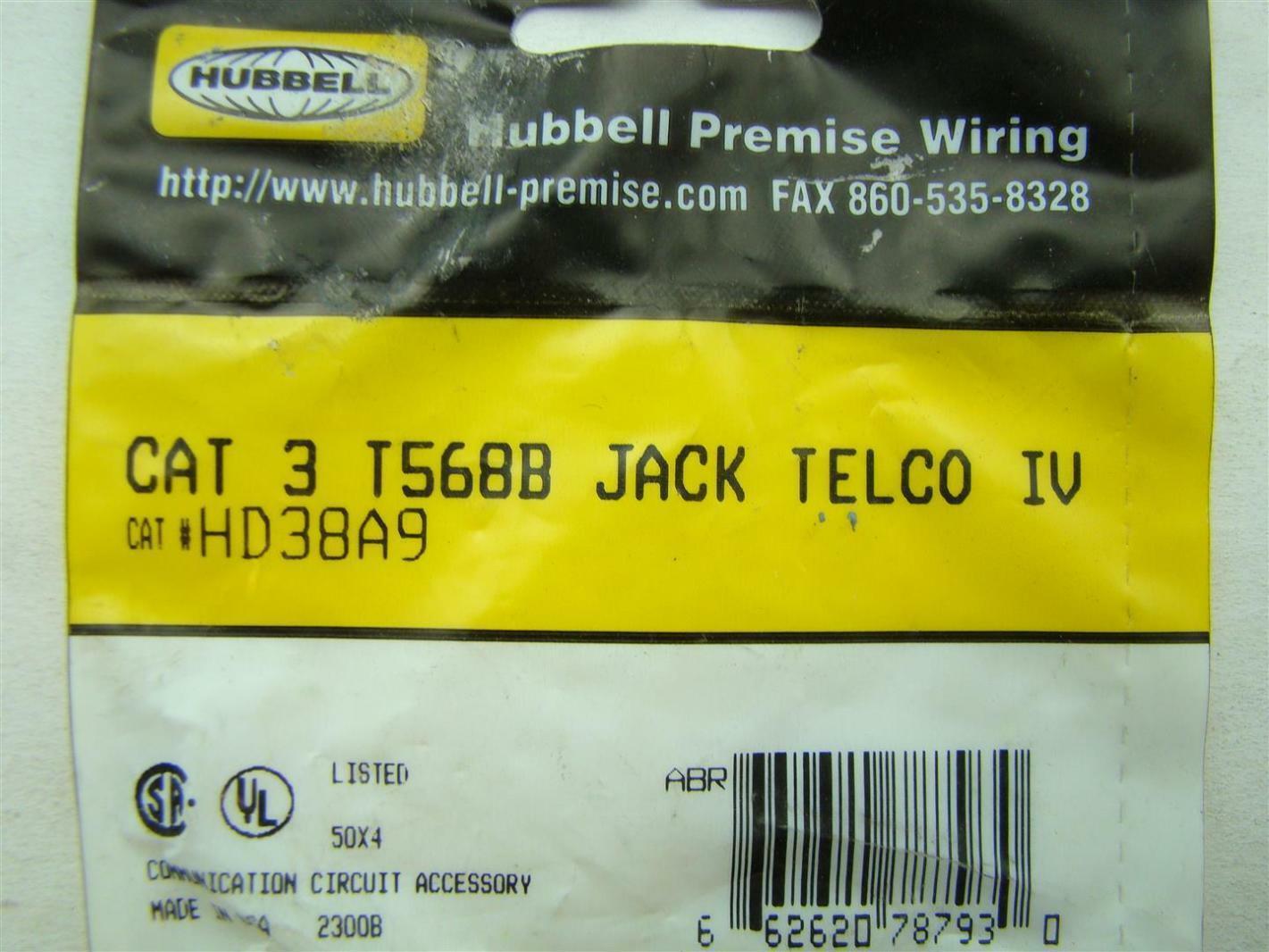 11 pcs hubbell premise wiring hd38a9 joseph fazzio incorporated rh fazziosurplus com hubbell premise wiring ftu1sp hubbell premise wiring catalogue