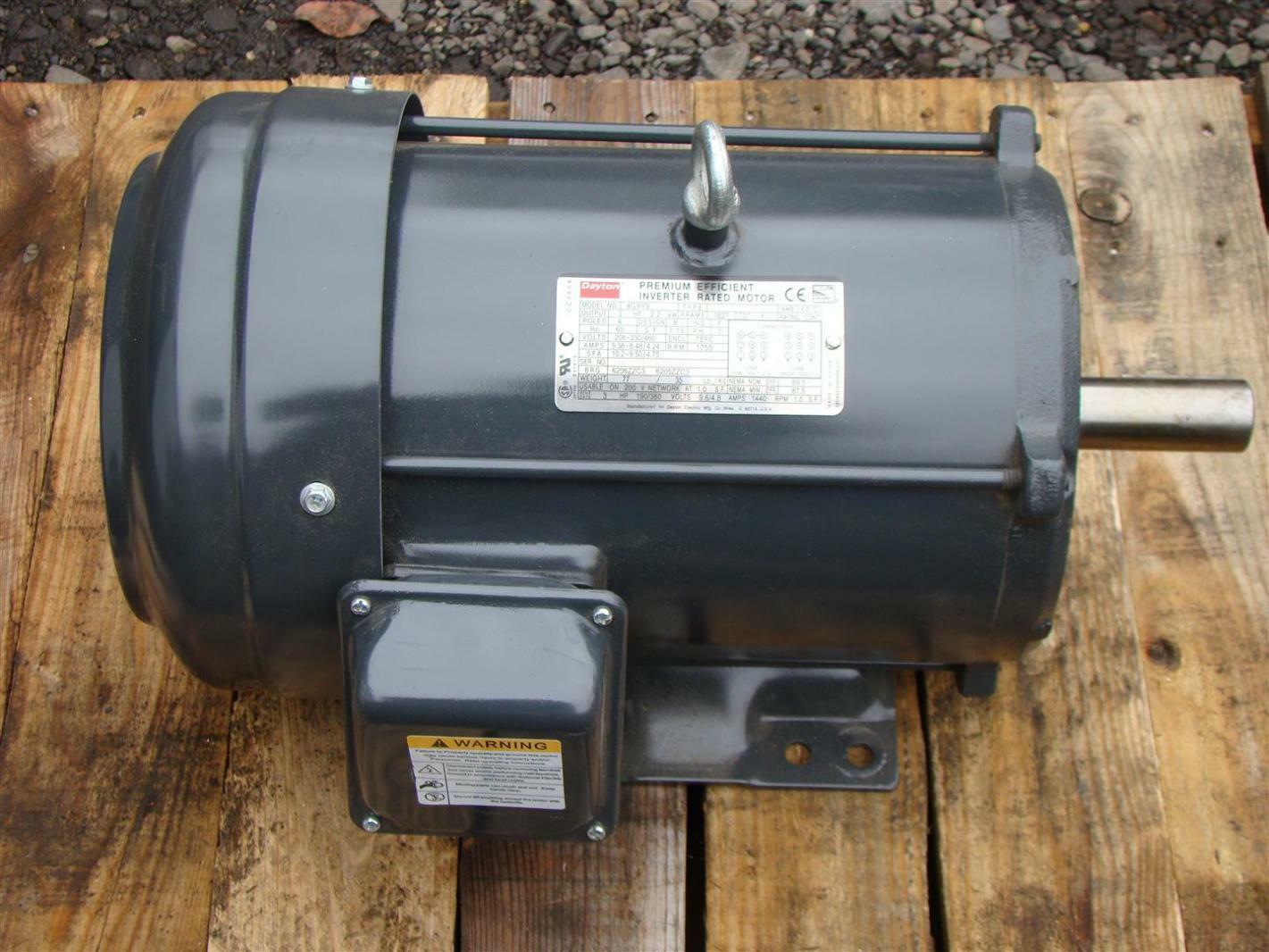 Dayton 3hp Inverter Duty Motor 208 230 460v 1755rpm 4gyy