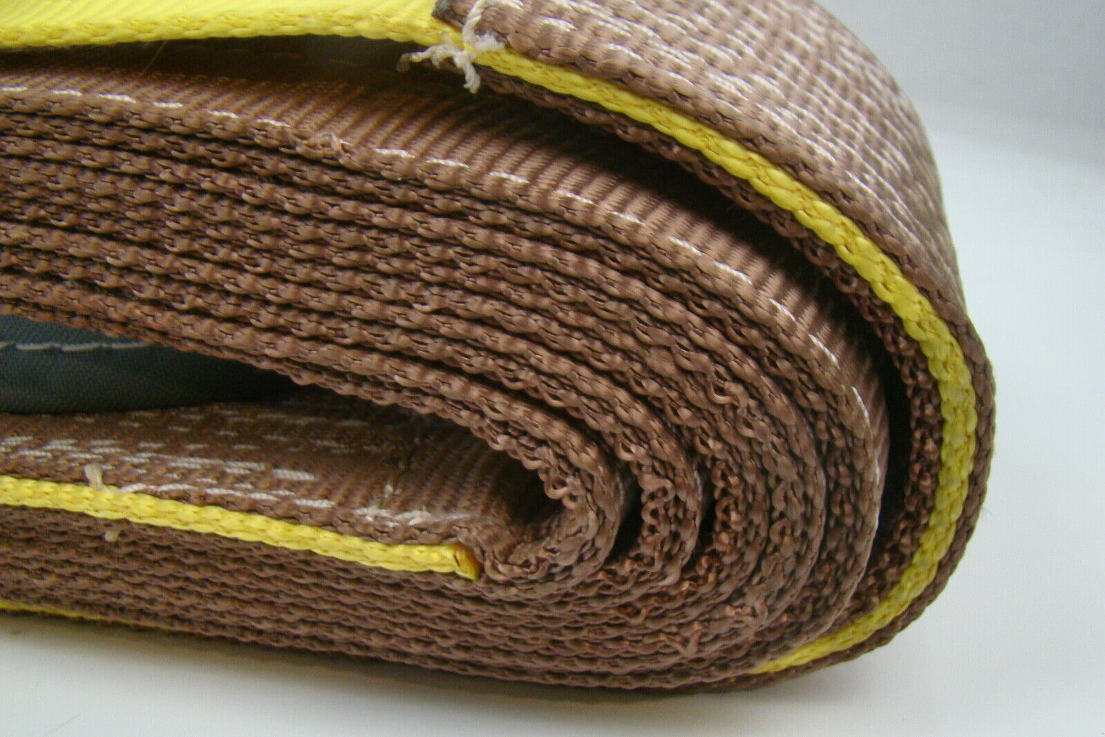 Dozer Tow Straps : Quot brown heavy duty nylon sling tow recovery strap