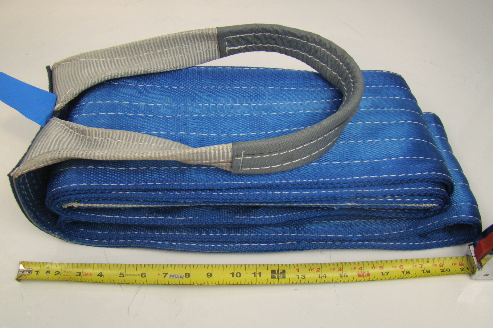 Dozer Tow Straps : Quot blue heavy duty nylon sling tow recovery strap