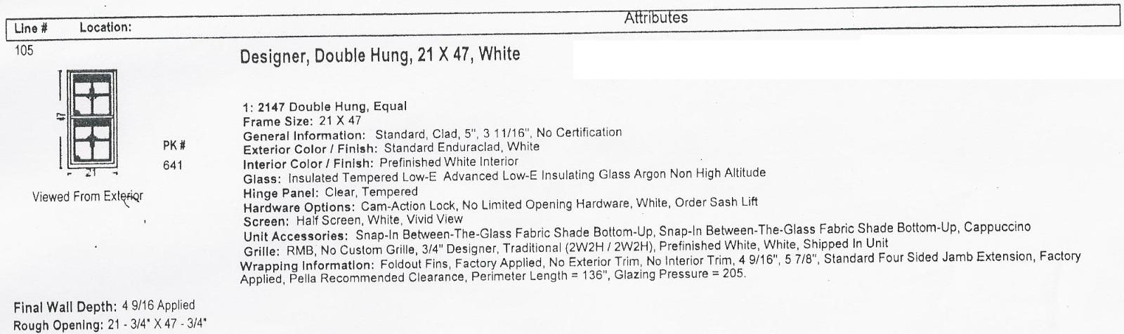 Pella Designer Series Wood Windows Double Hung 21 X 47