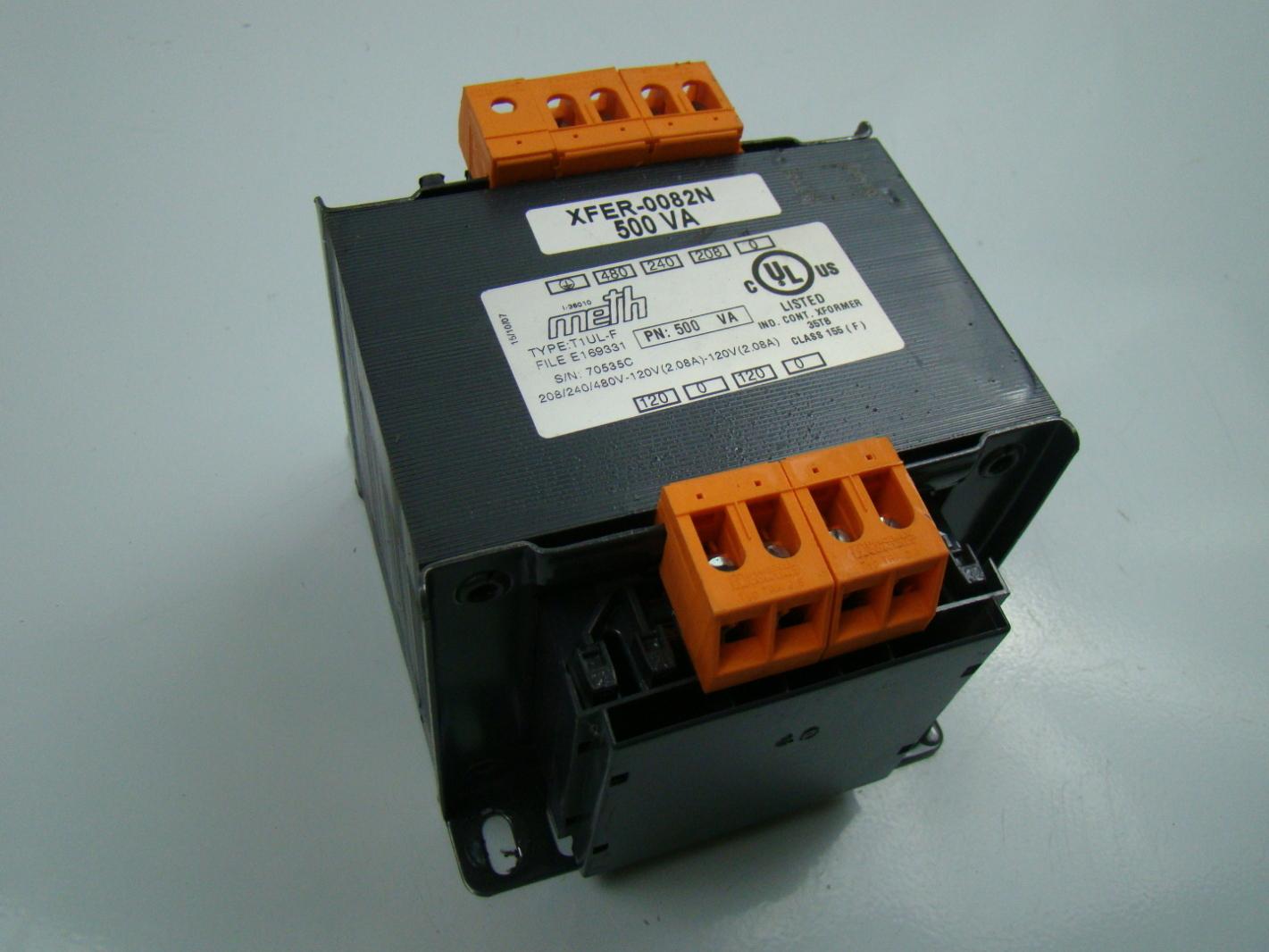 Meth 500va Transformer 208  240  480
