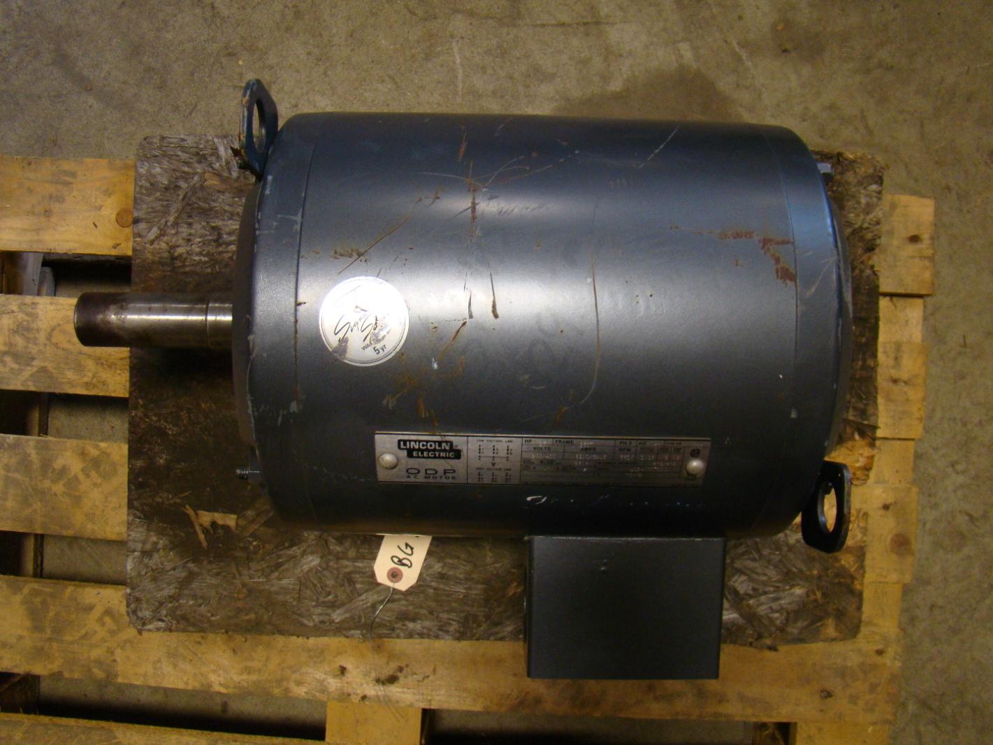 Lincoln electric 25hp odp ac motor 200 400v 1940607851 for Rpm motors lincoln ne