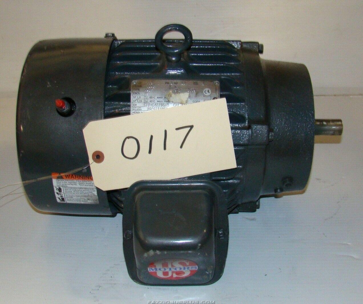 Us Motors 1 5hp Electric Motor 460v 184c A32s2ccr