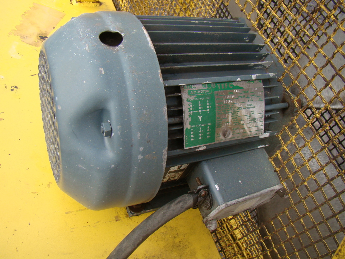 44 4 Blade Industrial Axial Fan With Lincoln 5 Hp 3 Phase