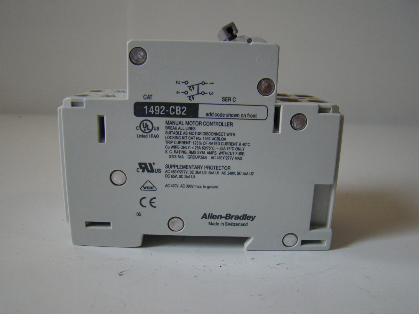 allen bradley manual motor control 1492 cb2g100 ebay