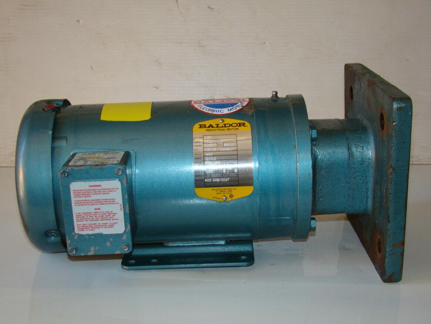 Baldor 1 5hp Electric Motor M15 Joseph Fazzio Incorporated