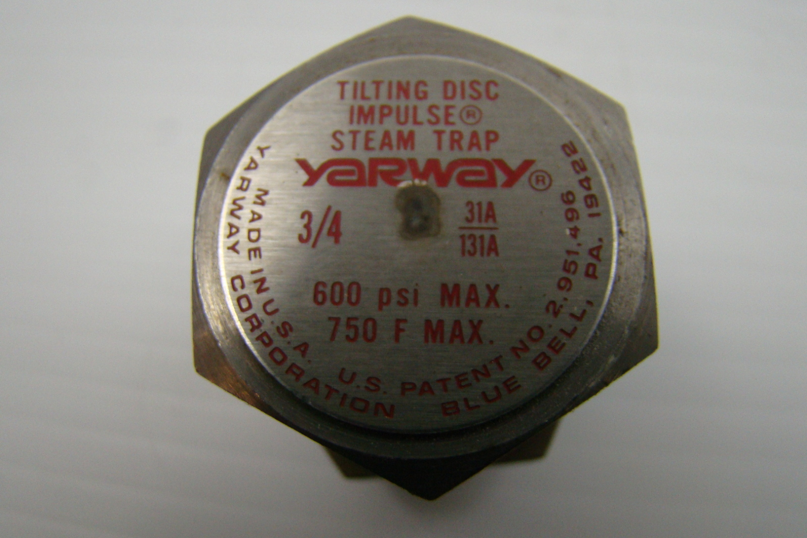 Yarway 600 Psi Tilting Disc Impulse Steam Trap 3 4 31a