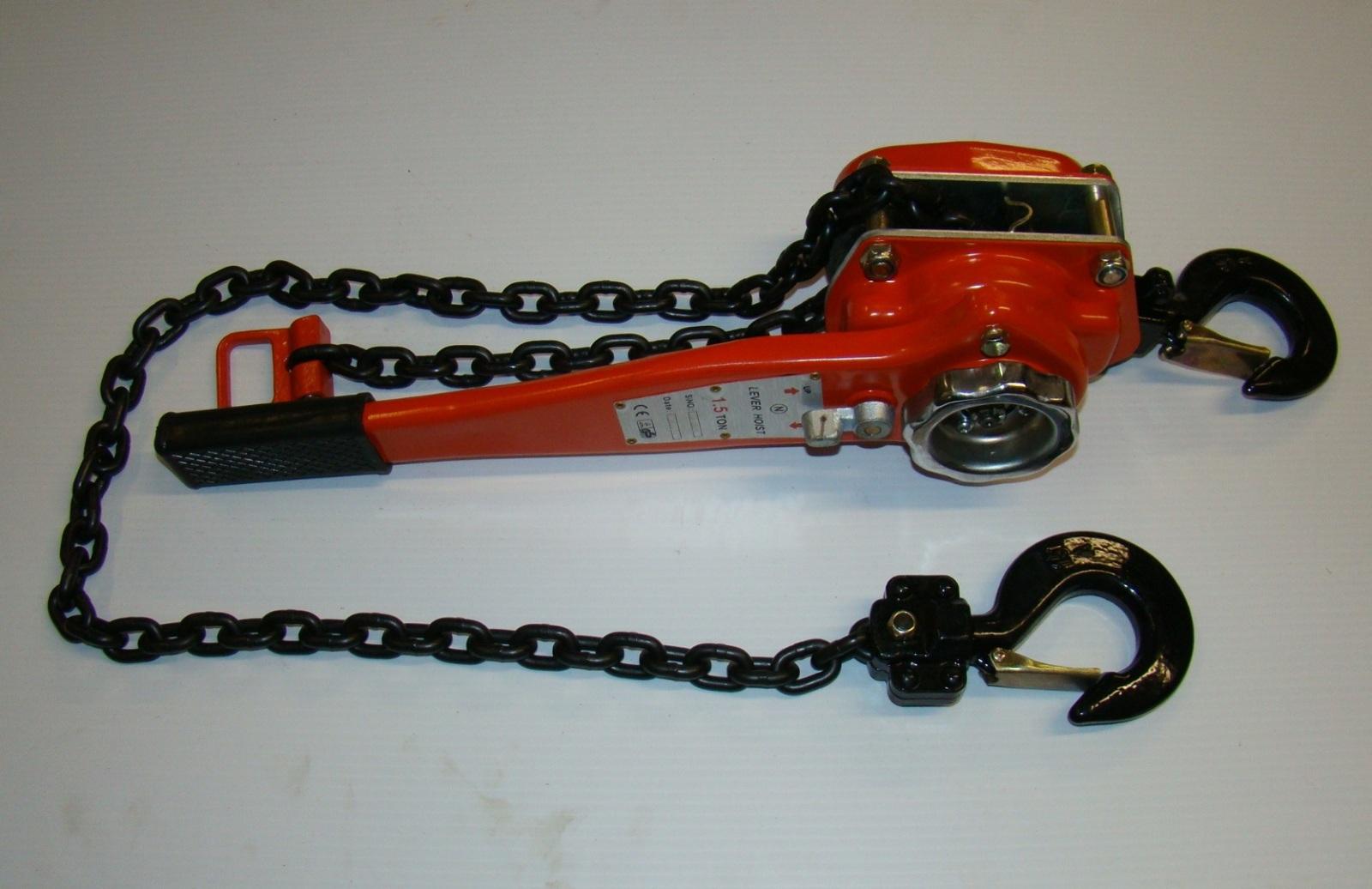 1 5 Ton Lever Chain Hoist 3000 Lb Come Along Ebay