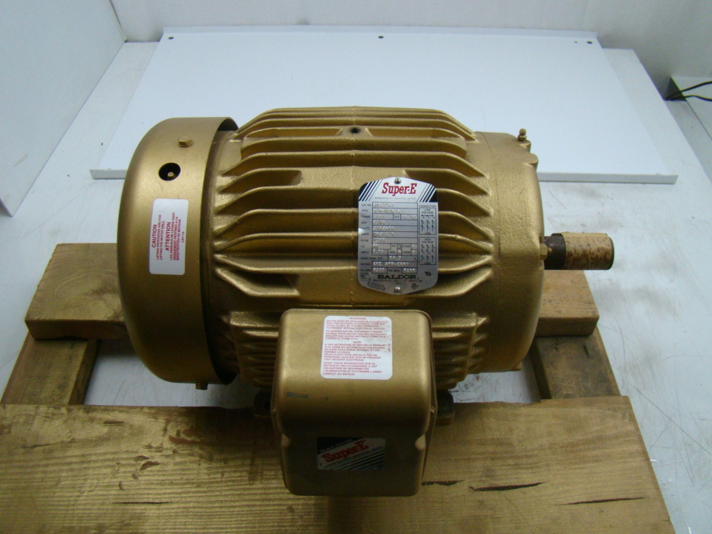 Baldor Super E 10 Hp Electric Motor 230 460v Em3774t Ebay