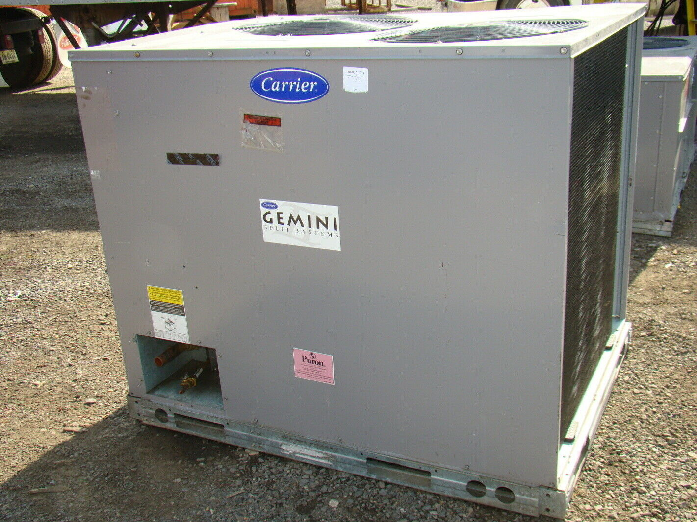 #5C4536 Carrier R 410A Puron Air Conditioning Unit EBay Highly Rated 11329 Carrier Air Conditioner Units wallpapers with 1421x1066 px on helpvideos.info - Air Conditioners, Air Coolers and more