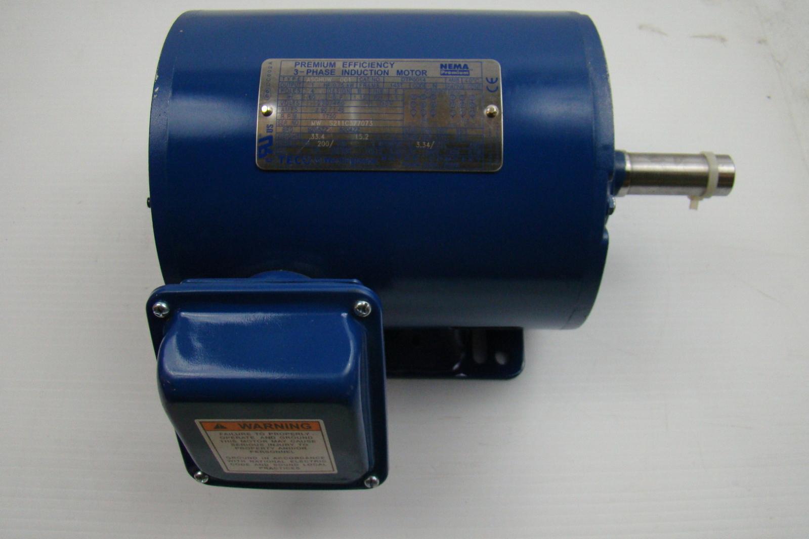 Premium efficiency 1 hp 230 460v induction motor dtp0014 for 1 2 hp induction motor