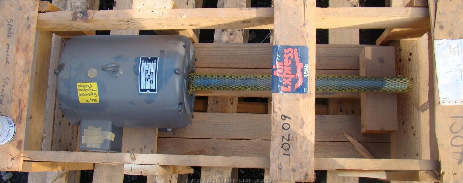 Baldor 10 Hp Electric Motor 24 Inch Shaft 230 460