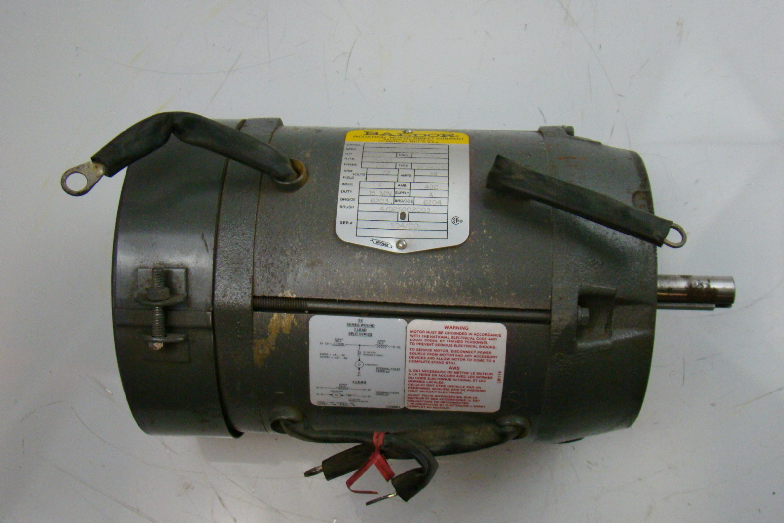 baldor 3 hp 2000 rpm electric motor 72v dc 31 635w04 ebay