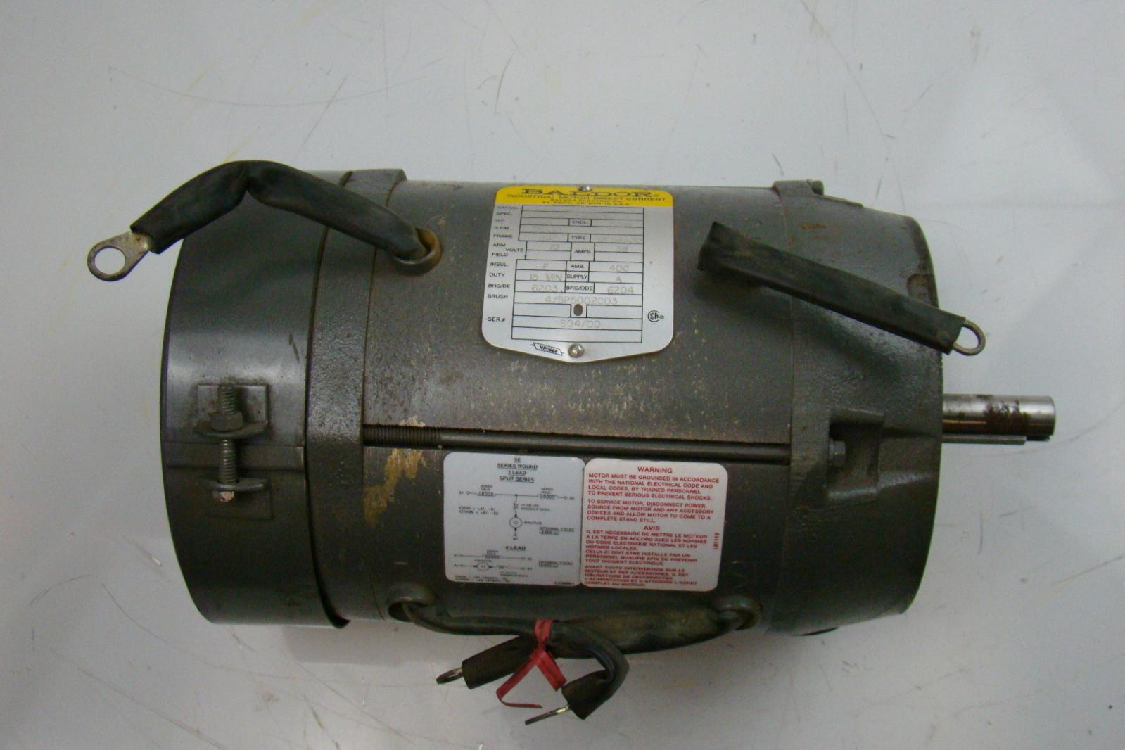 baldor 3 hp 2000 rpm electric motor 72v dc 31 635w04 ebay