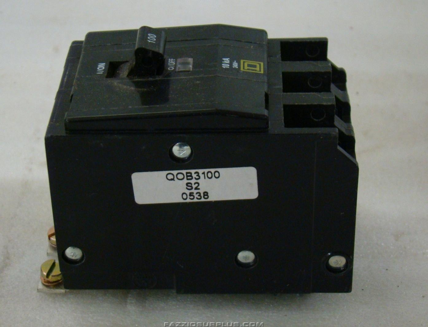 3 Pole Breaker Square D Details About Kal36100 100 Amp 600 Volts Circuit 480v Fal34060 100a Q0b3100 Ebay