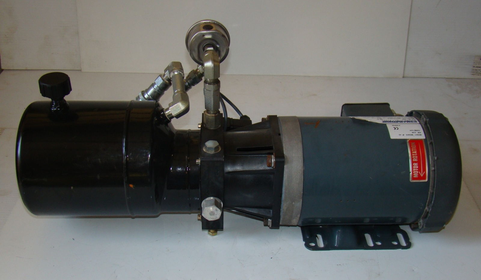 Marathon electric motor 1hp hydraulic pump 3ph eve for Electric motor hydraulic pump
