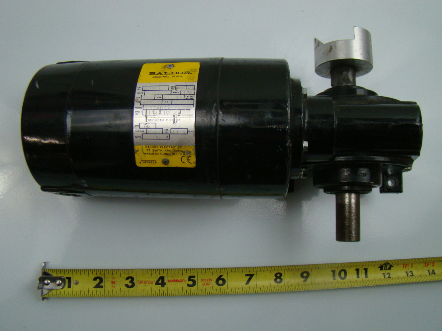 Baldor 1 4hp industrial gear motor 160vdc 45 1 ratio for Baldor industrial motor parts