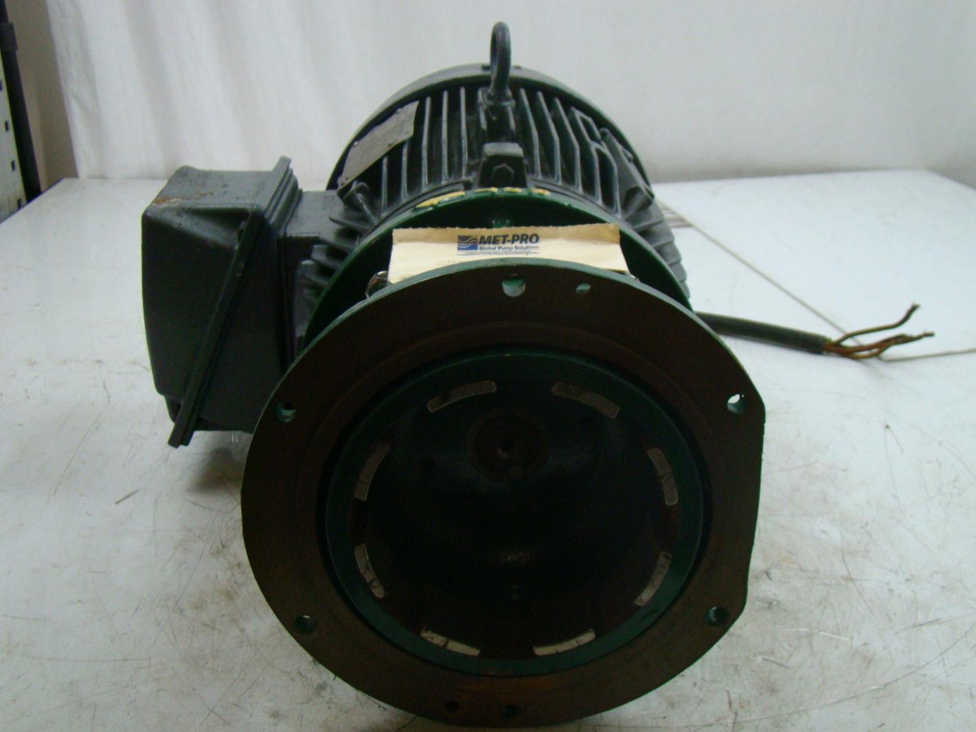 Siemens 7 5hp Electric Motor 230 460 R6zesd Metpro Pump