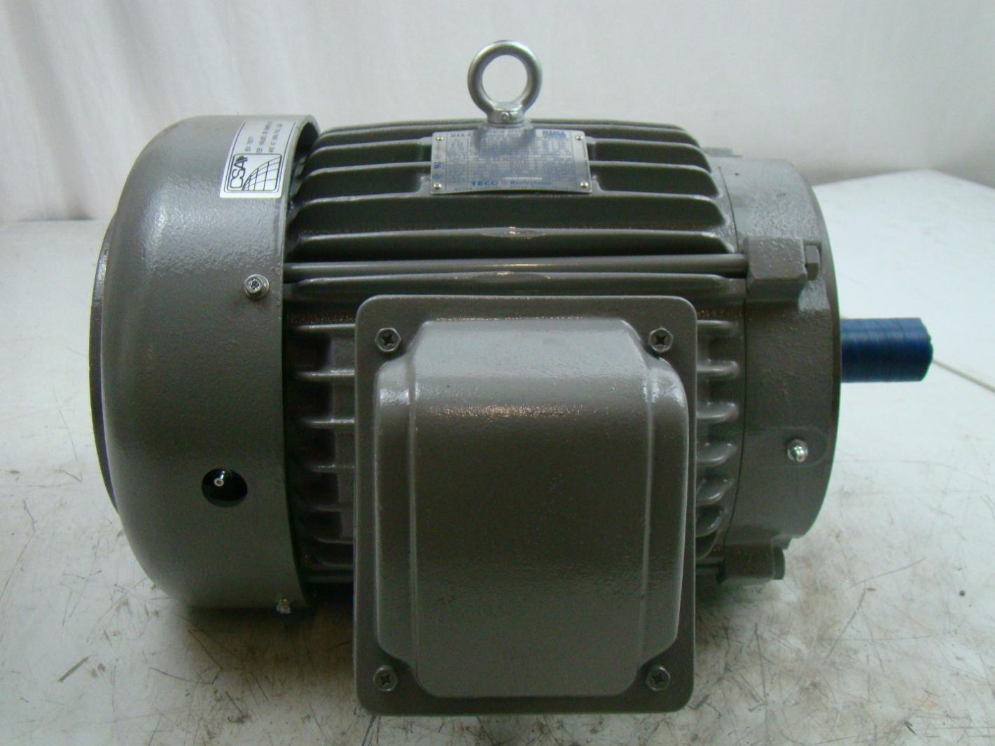 westinghouse teco 7 5hp max e1 electric motor 230 460v max