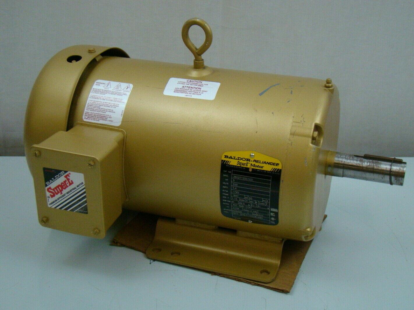 Baldor 5 Hp 550v Electric Motor 36g271s551g3 Ebay