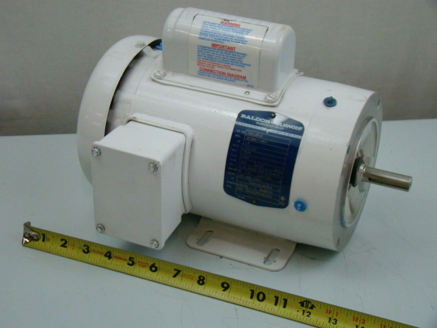 Baldor 1 5 Hp Single Phase Electric Motor Cwdl3513 Ebay