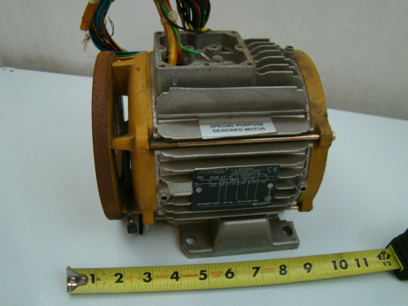 Leroy somer 1 5 hp 1710 rpm electric motor pih90s ebay for 1 5 hp electric motor