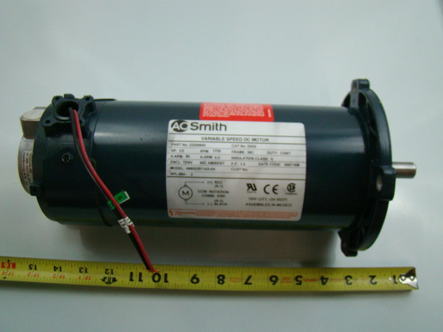 Ao smith 1 2 hp 1725 rpm dc motor 22200600 d033 ebay for Ao smith 1 2 hp motor