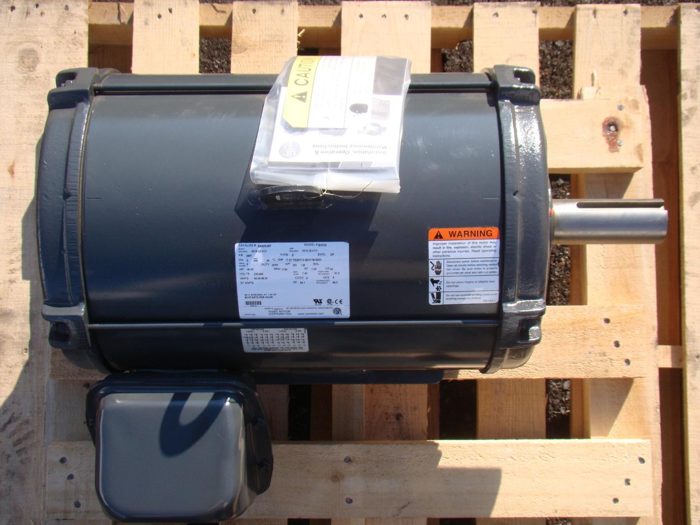 Us Motors 40 Hp Dry Hydraulic Elevator Motor 230 460v 3