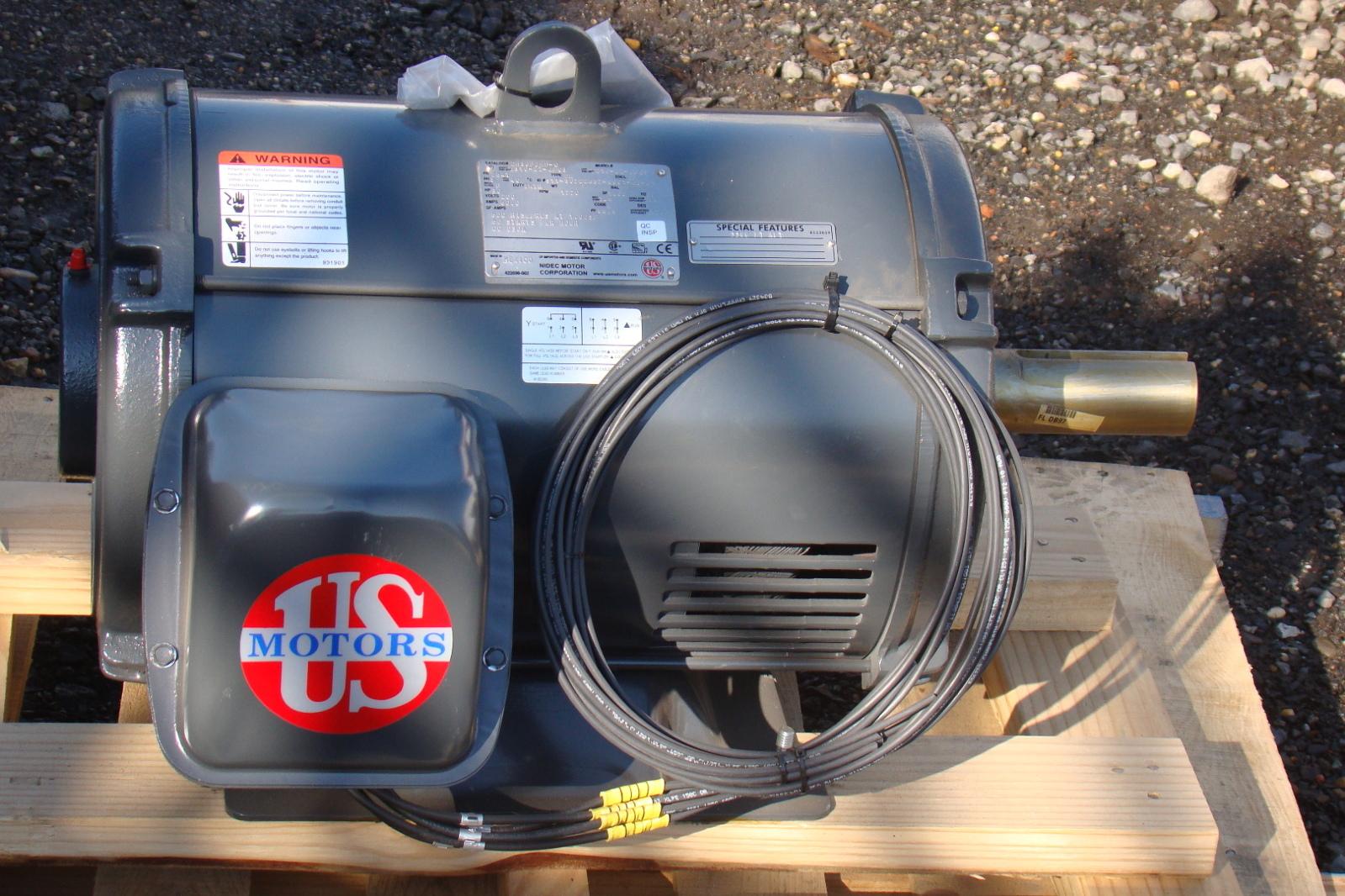 Us Motors 30 Hp Dry Hydraulic Elevator Motor 200v 3