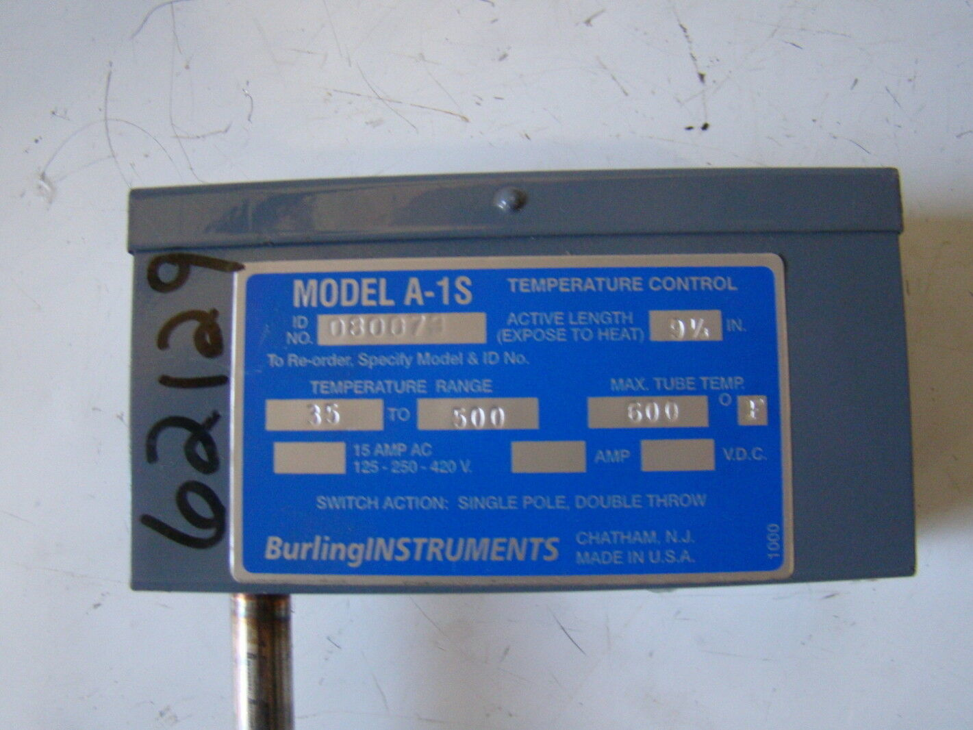 Burling Instruments Temperature Control A 1S Joseph Fazzio  #0347B1