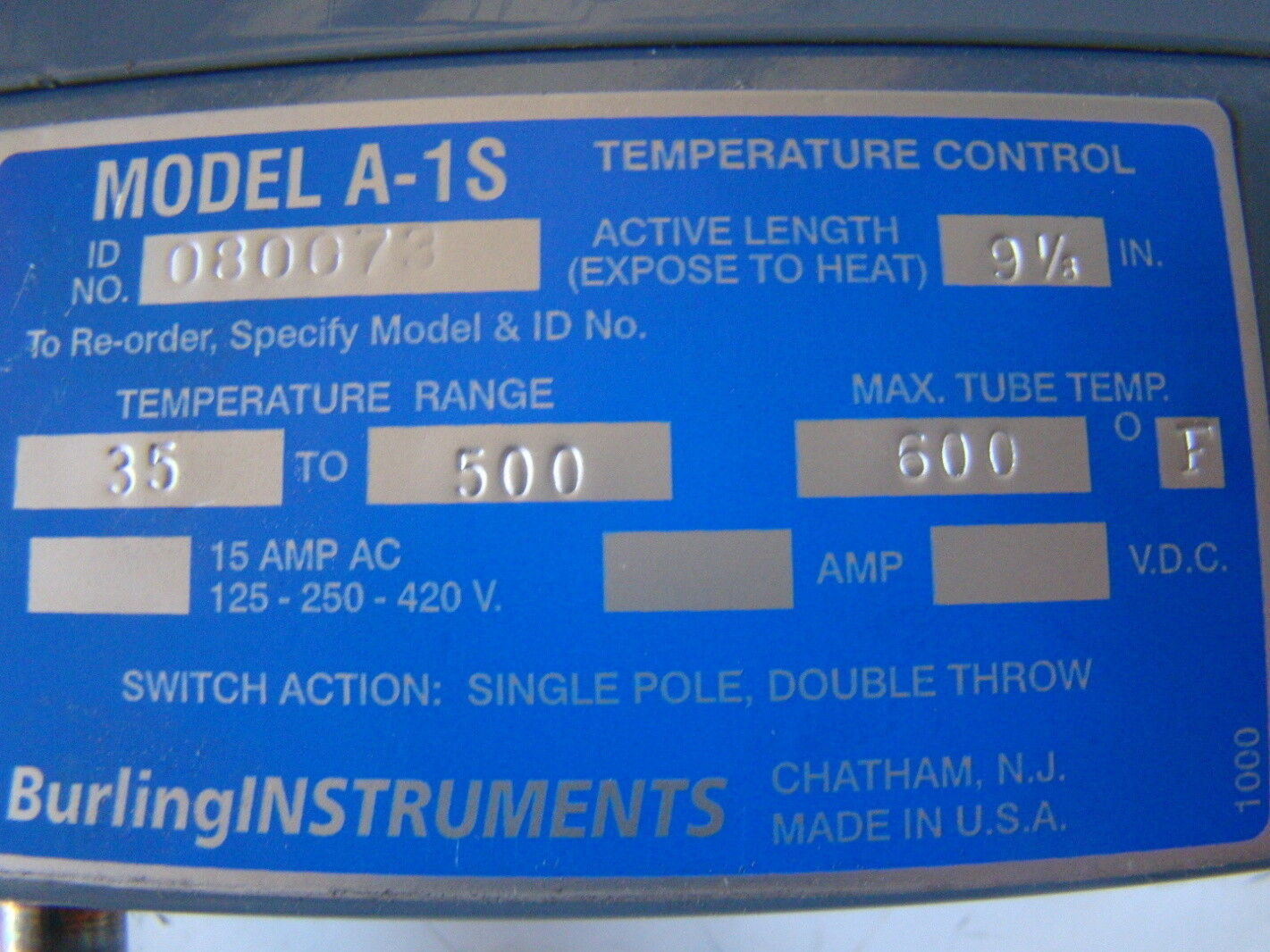 Details about Burling Instruments Temperature Control A 1S #014CBF