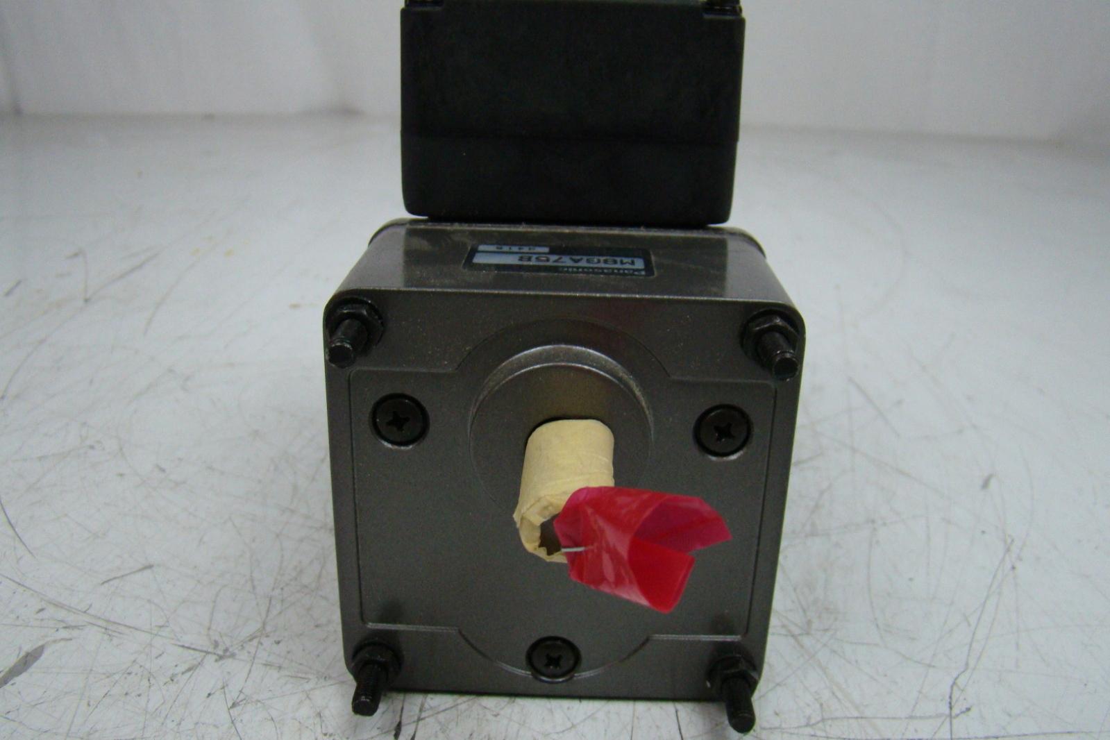 Panasonic Motor Gearbox M8ga75b Joseph Fazzio Incorporated