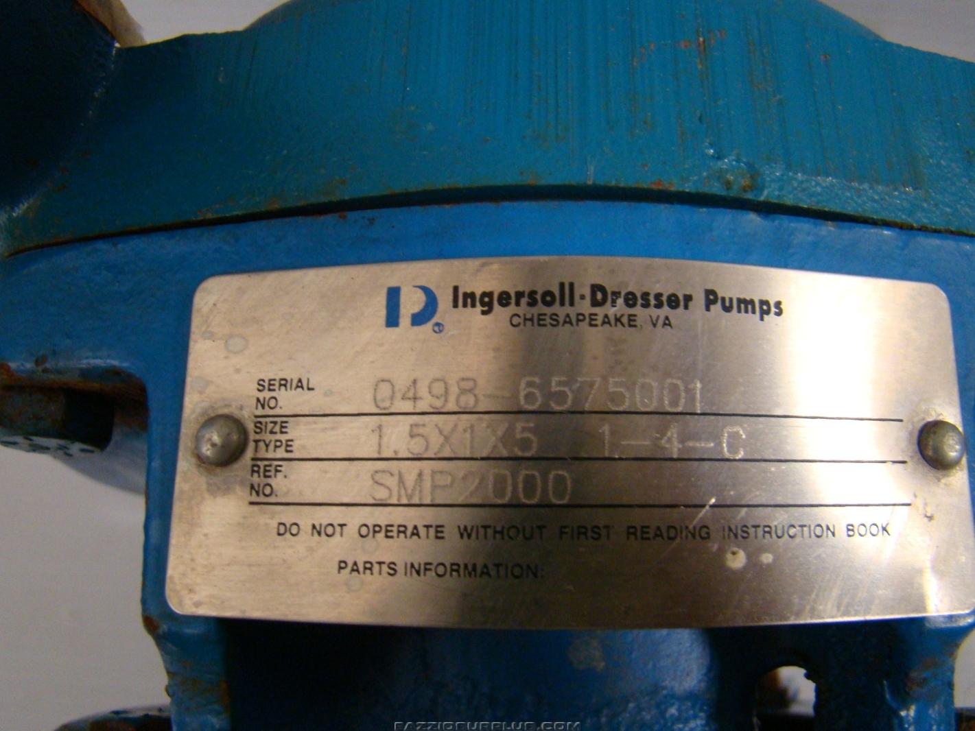 Ingersoll Dresser Pumps 1hp 230 460v 3ph