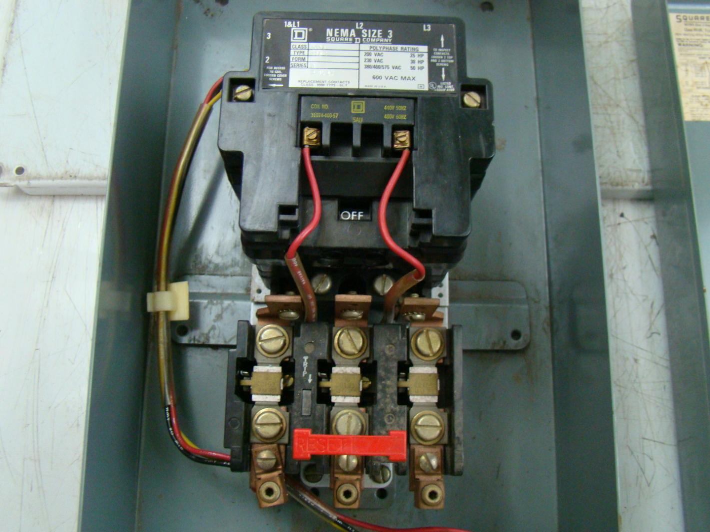 Square D 600v Enclosed Magnetic Motor Starter 8536