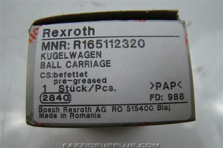 Rexroth Runner Block for Roller Rail System R165112320