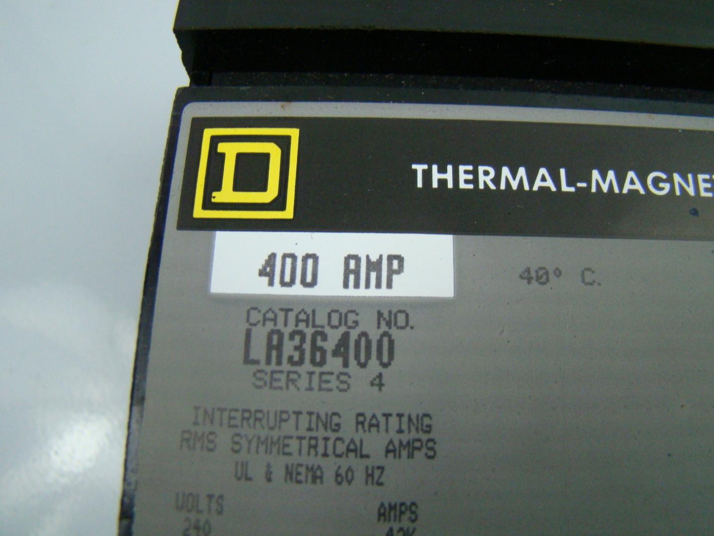 Square D Circuit Breaker 600v 400amp La36400 Ebay
