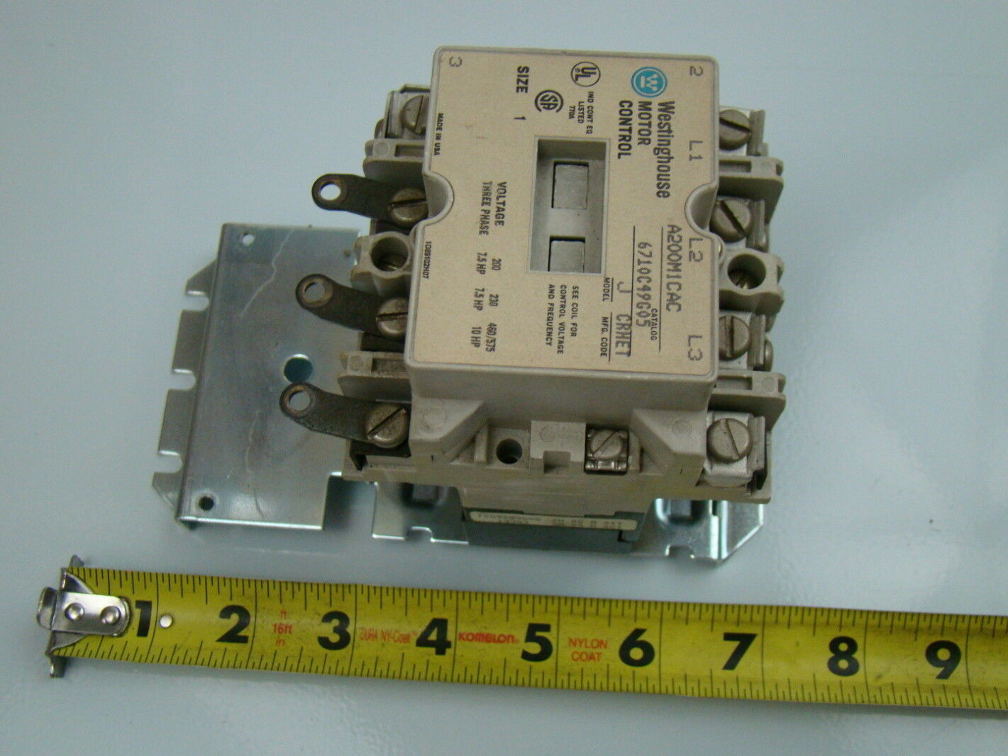 Westinghouse 3 Pole Motor Control A200m1cac Joseph
