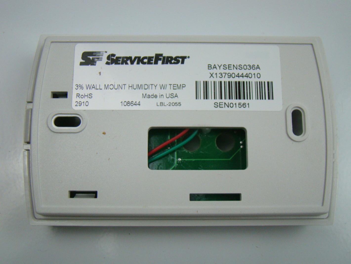 Wall Mount Temperature Sensor : Trane wall mount humidity tempature sensor baysens a