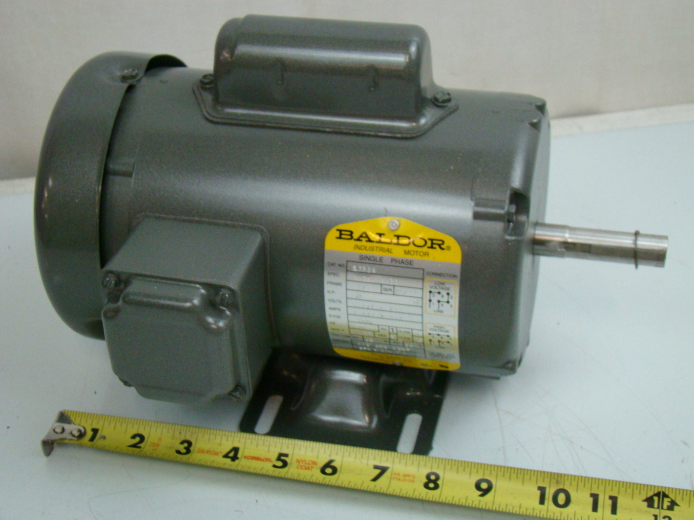 Baldor 1 2 hp single phase electric motor 115 208 230v 56 for One horsepower electric motor
