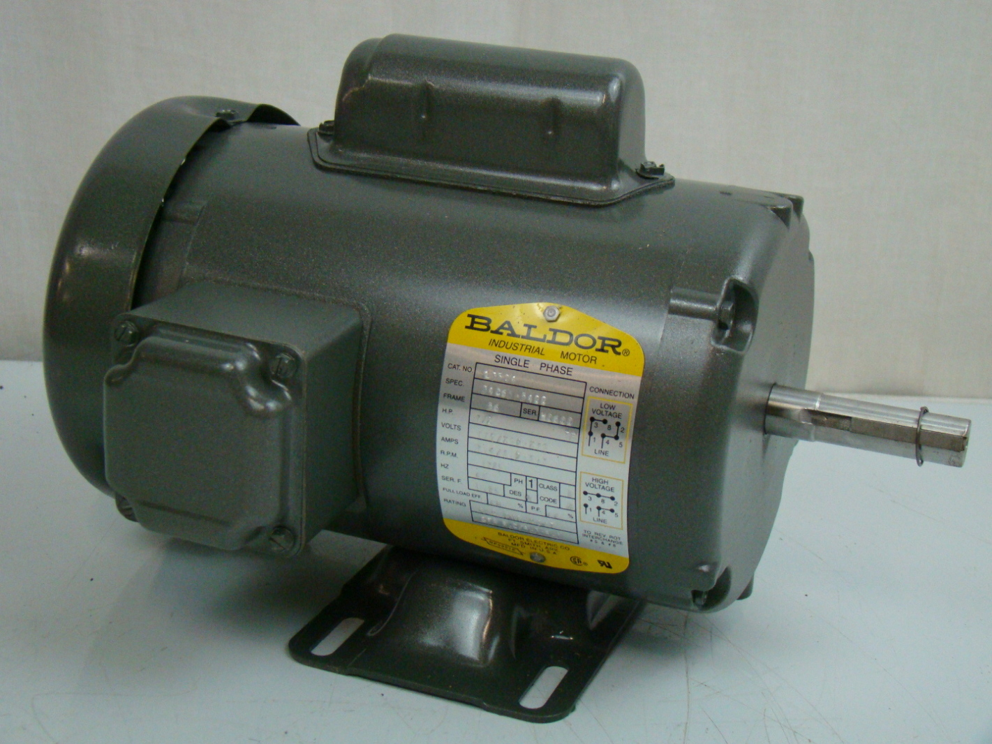 Baldor 1 2 hp single phase electric motor 115 208 230v 56 for Baldor electric motor parts
