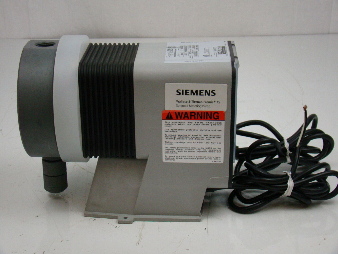 Premia 75 Solenoid Metering Pump P75MP79RAWTCBAXX | Joseph Fazzio, Incorporated