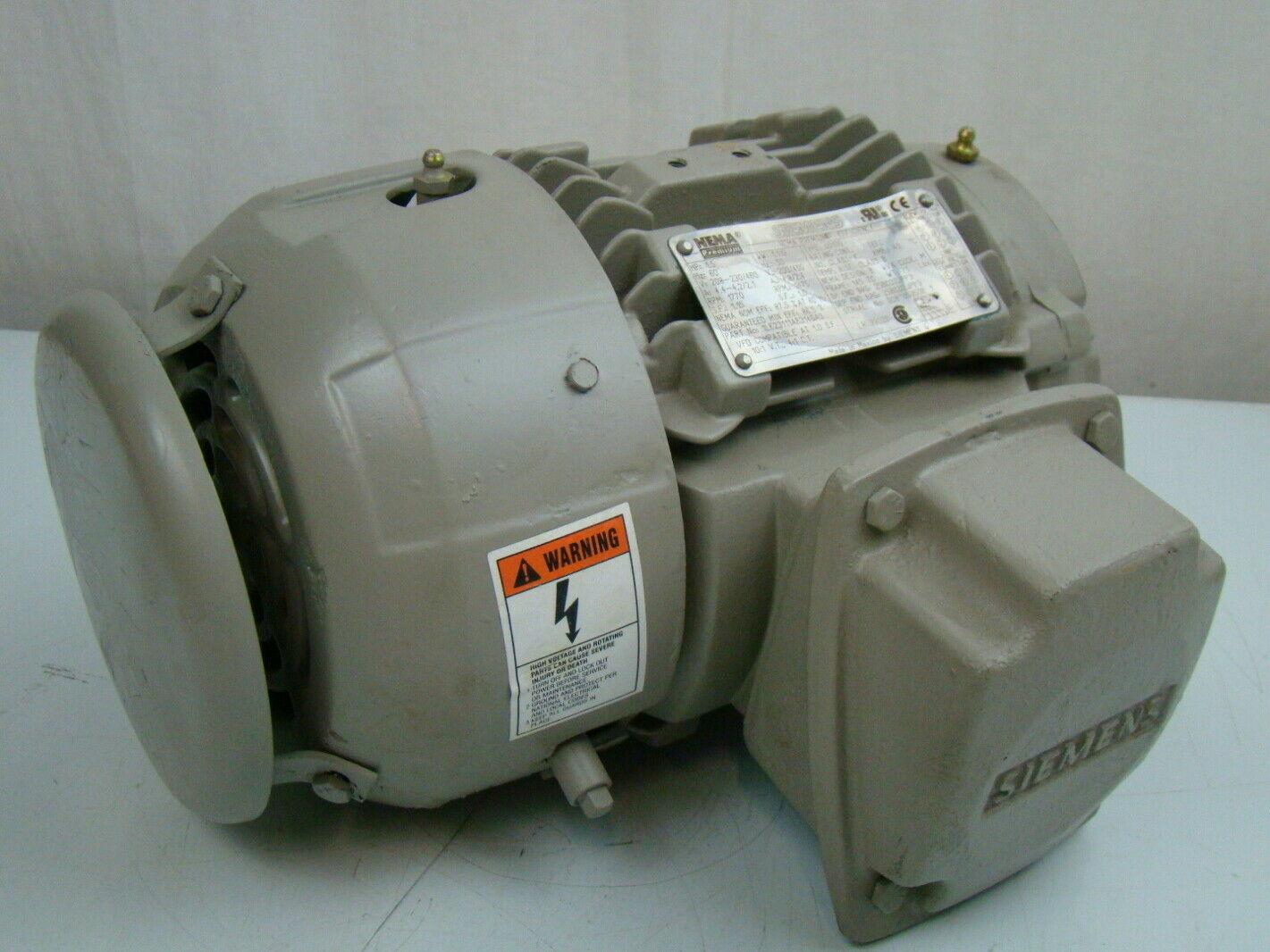 Siemens 1 5 Hp 1770 Rpm Electric Motor 1le23111ab314ga3