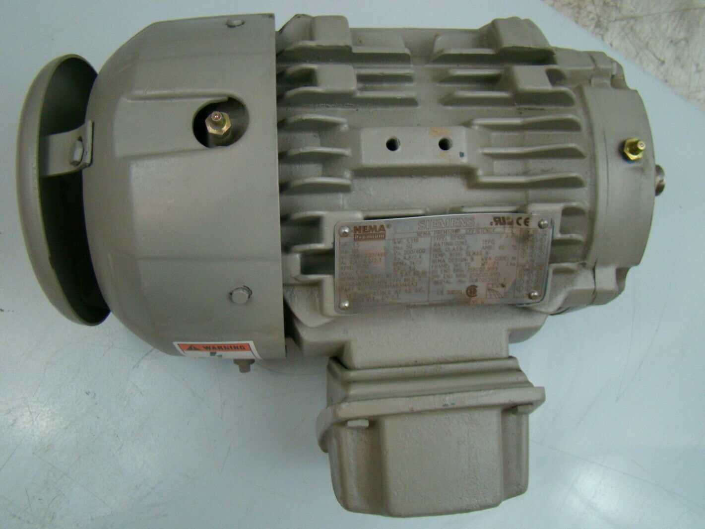 Siemens 1 5 hp 1770 rpm electric motor 1le23111ab314ga3 for Electric motor 1 5 hp