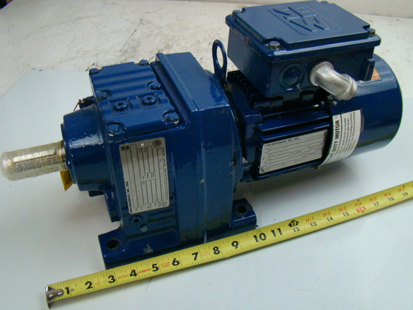 Sew Eurodrive 1 2 Hp 1700 Rpm Gear Motor Dft71d4bmg05hr Ks