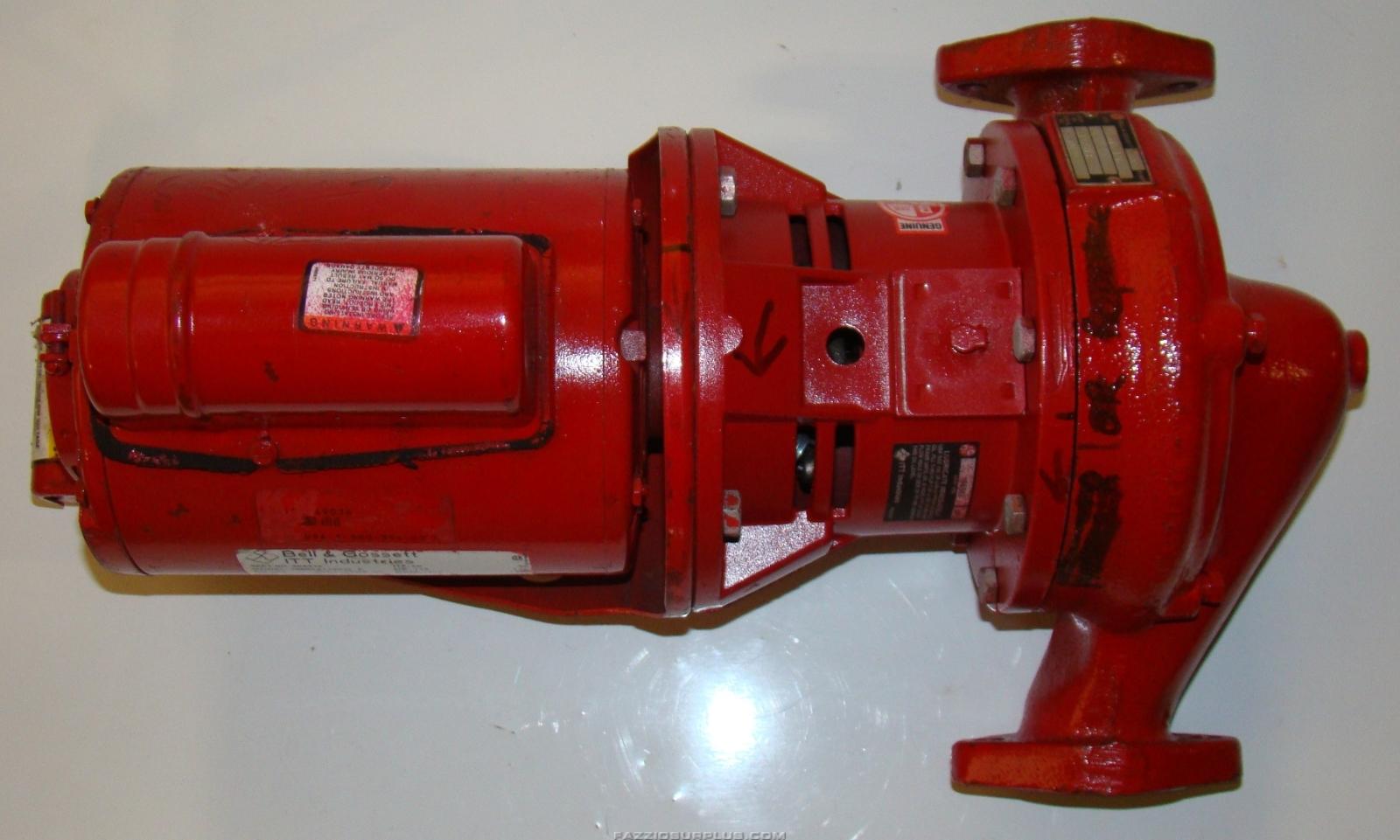 Bell gossett 60 pump 1 4hp 115 208 230v 11s l98 for Bell gossett motors