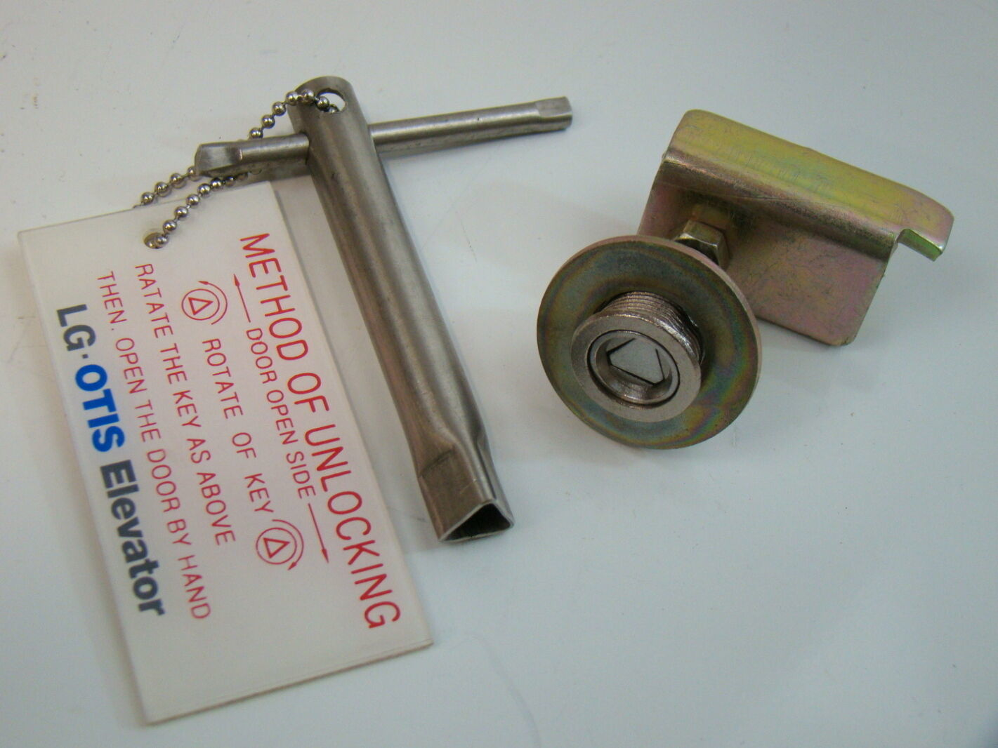 Lg Otis Elevator Triangular Door Lock Amp Key Ebay