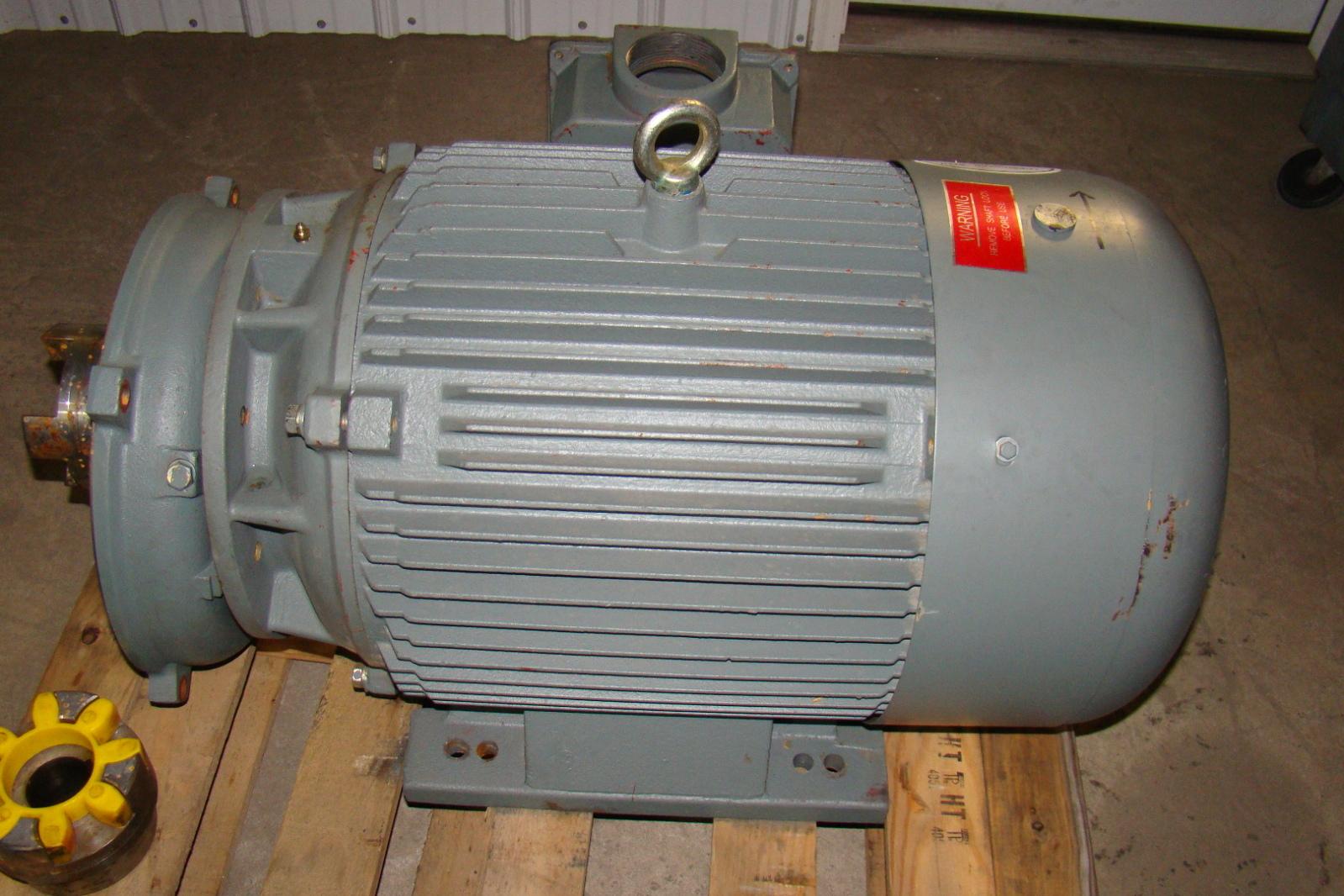 iron horse 75 horsepower electic motor 208 230 460v mtc