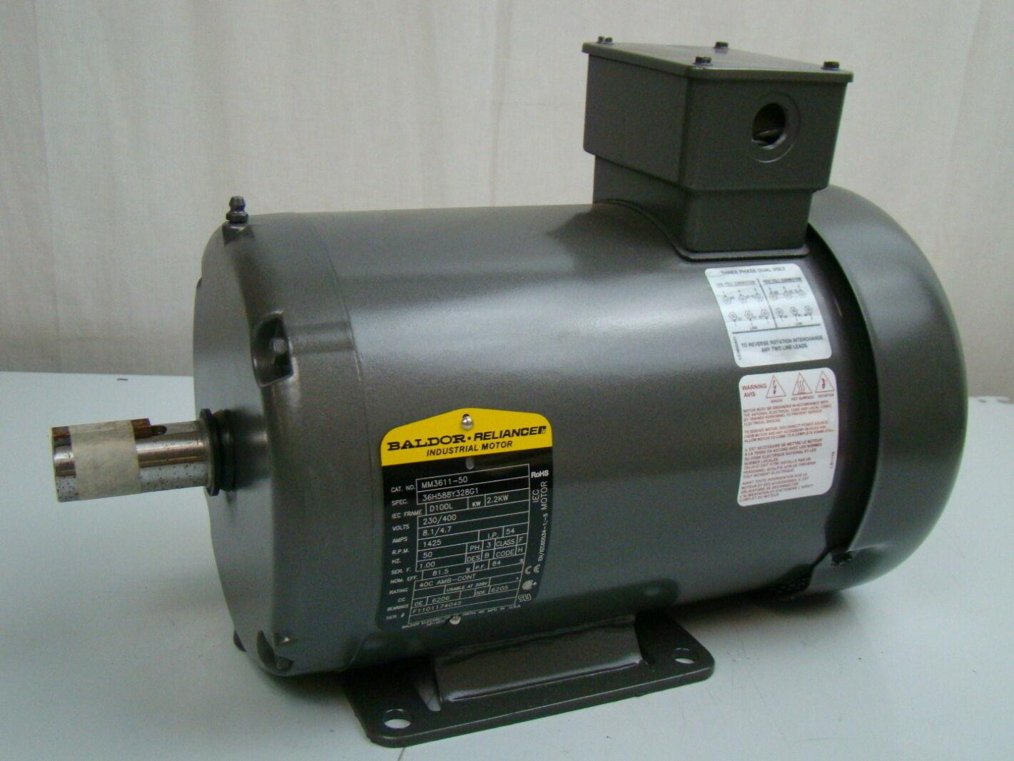 Baldor 2 2 Kw 1425 Rpm Electric Motor Mm3611 50 Joseph